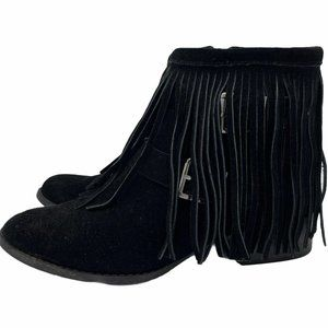 BCBGeneration Capricorn Fringe Suede Ankle Booties